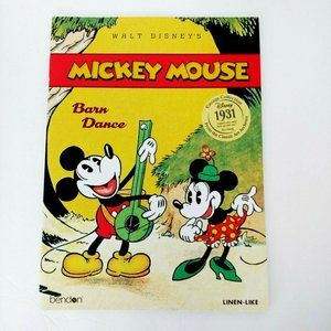 Mickey Mouse Barn Dance Like Linen Book